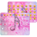 Emoji Keyboard Pink Flower