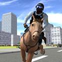Caballo de policía montado 3D