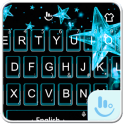 Ice Blue Star Keyboard Theme