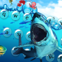 Cool sea shark keyboard theme