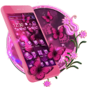 Pink Neon Butterfly Theme