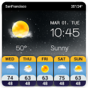 Widget de pronóstico del tiempo