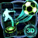 Neon Football Tech 3D Theme