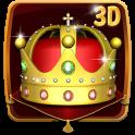 Gold King Crown 3D