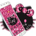 Pink Kitty Shine Leopard Cute Kitten Theme