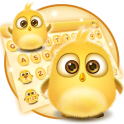 lovely yellow bird keyboard