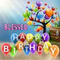 Saludo de cumpleaños bendecido