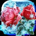 Roses Snow Winter Live wallpaper