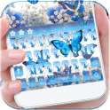 Blue Butterfly Keyboard Theme
