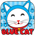 Blue Cute Kitty Keyboard Theme