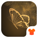 Glitter Golden - Butterfly Theme for Android