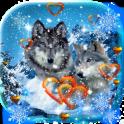 Wolf Romantic live wallpaper