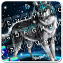 Live 3D Winter Snowing Wolf Keyboard Theme
