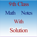 9th math notes with solution