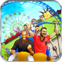 Theme Park Swings Rider