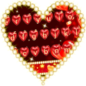 Red Love Heart Keyboard Theme