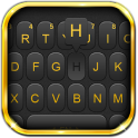 Luxury Golden Black Keyboard Theme