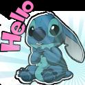 Cute Blue Koala Stitch Stickers for WhatsApp