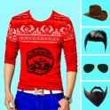 Men Designed T-Shirt Photo Suit Editor
