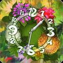 Flower Parade Clock widget