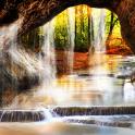 Лесной 3D Водопад Живые Обои