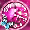 Reloj Rosa Fondo Animado