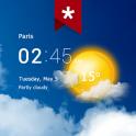 Transparent Clock & Wetter Pro