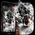 Smoky Poker Skull Launcher Theme Live HD Wallpaper