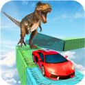 Dino car chase on impossible tracks new 2019