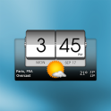 3D flip clock & world weather