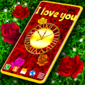 Red Rose Diamond Shine Live Wallpaper
