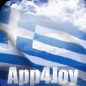 3D Greece Flag Live Wallpaper
