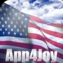3D US Flag Live Wallpaper