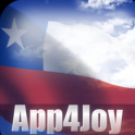 3D Chile Flag Live Wallpaper