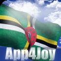 3D Dominica Flag Live Wallpaper