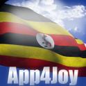 3D Uganda Flag Live Wallpaper
