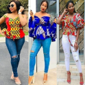 Jeans & Ankara Blouse Styles
