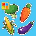 野菜図鑑 V2 (野菜の英単語/子供のジグソーパズル)