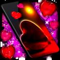 Love You Live Wallpaper ❤️ Purple Hearts Themes