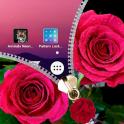 Pink Rose Zipper Lock Screen
