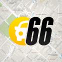 Carro 66:localizar estacionamento/onde lavar carro