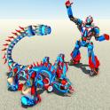 Robot escorpión transformando y disparando juegos