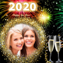New year photo frame 2020
