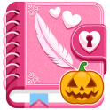My Secret Diary with Lock and Photo Halloween