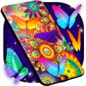 Neon Butterflies Wallpaper Free Live Wallpapers