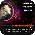 My Photo Lyrical Status Maker - Particle Wave Beat