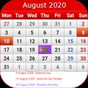 Singapore Calendar 2020