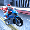 Santa Claus Motorbike Race