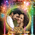 New year photo frame 2021