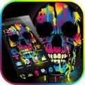 Fancy Colorful Graffiti Skull Theme